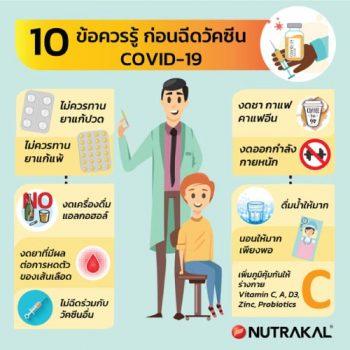 10 ข้อควรรู้ ก่อนฉีดวัคซีน Covid-19